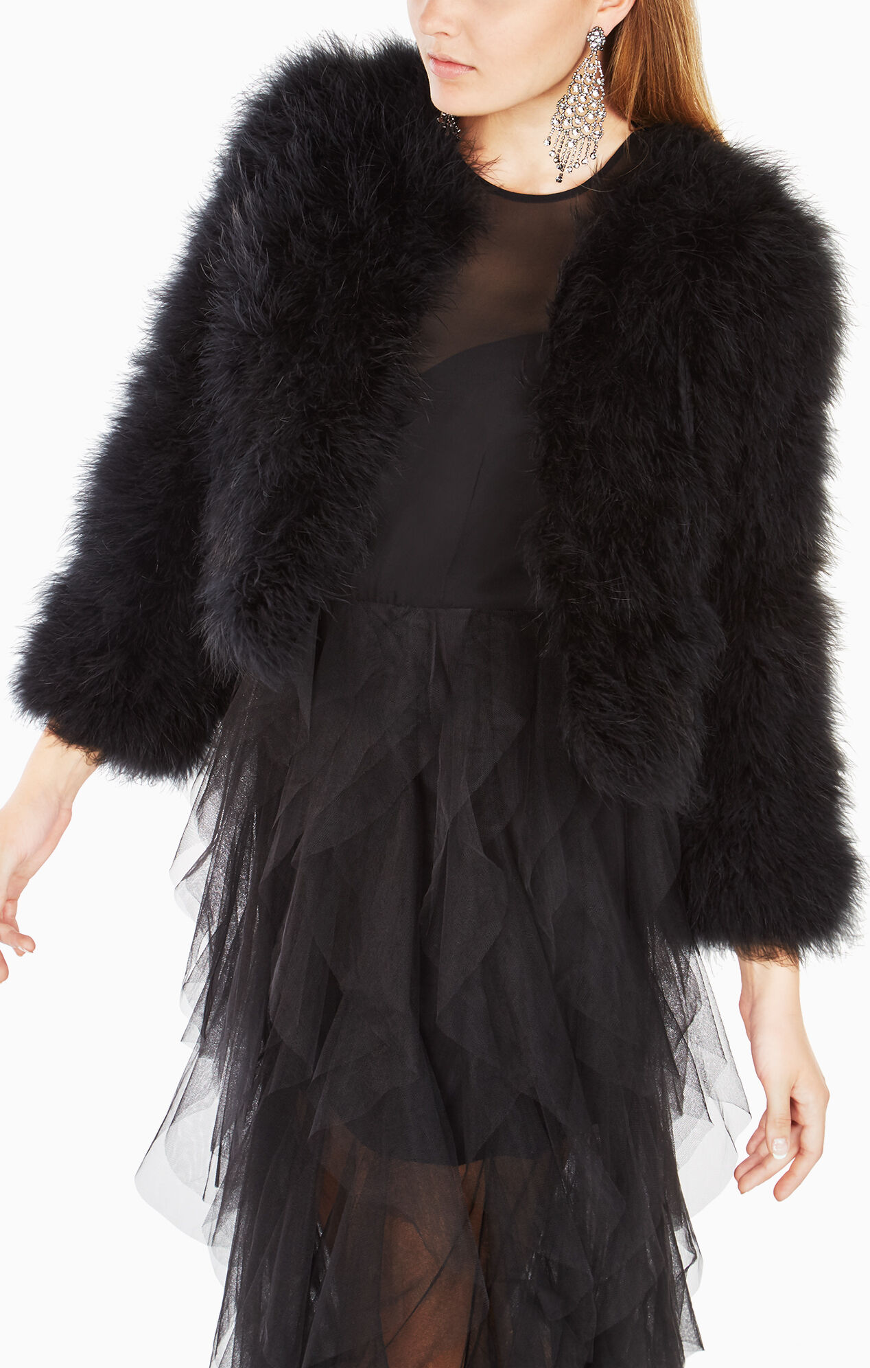 Margaret Marabou-Feather Jacket