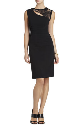 Valery Asymmetrical Ruched Sheath