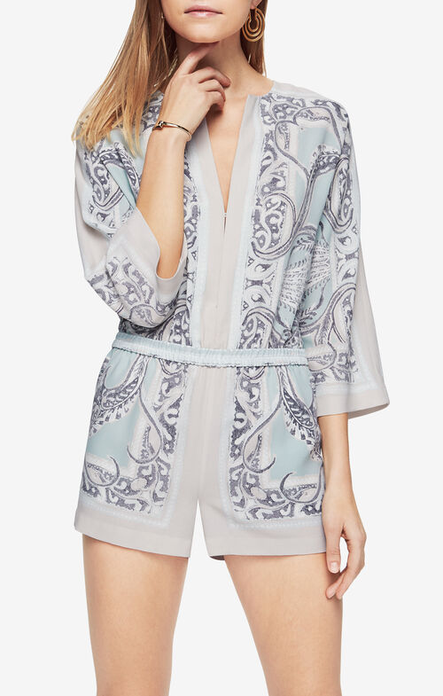 Lindee Paisley-Print Romper