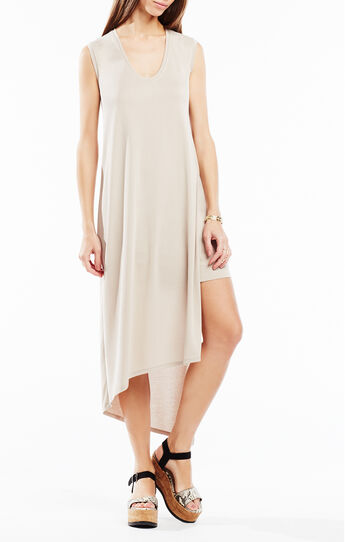 Natallie Asymmetrical Jersey Dress