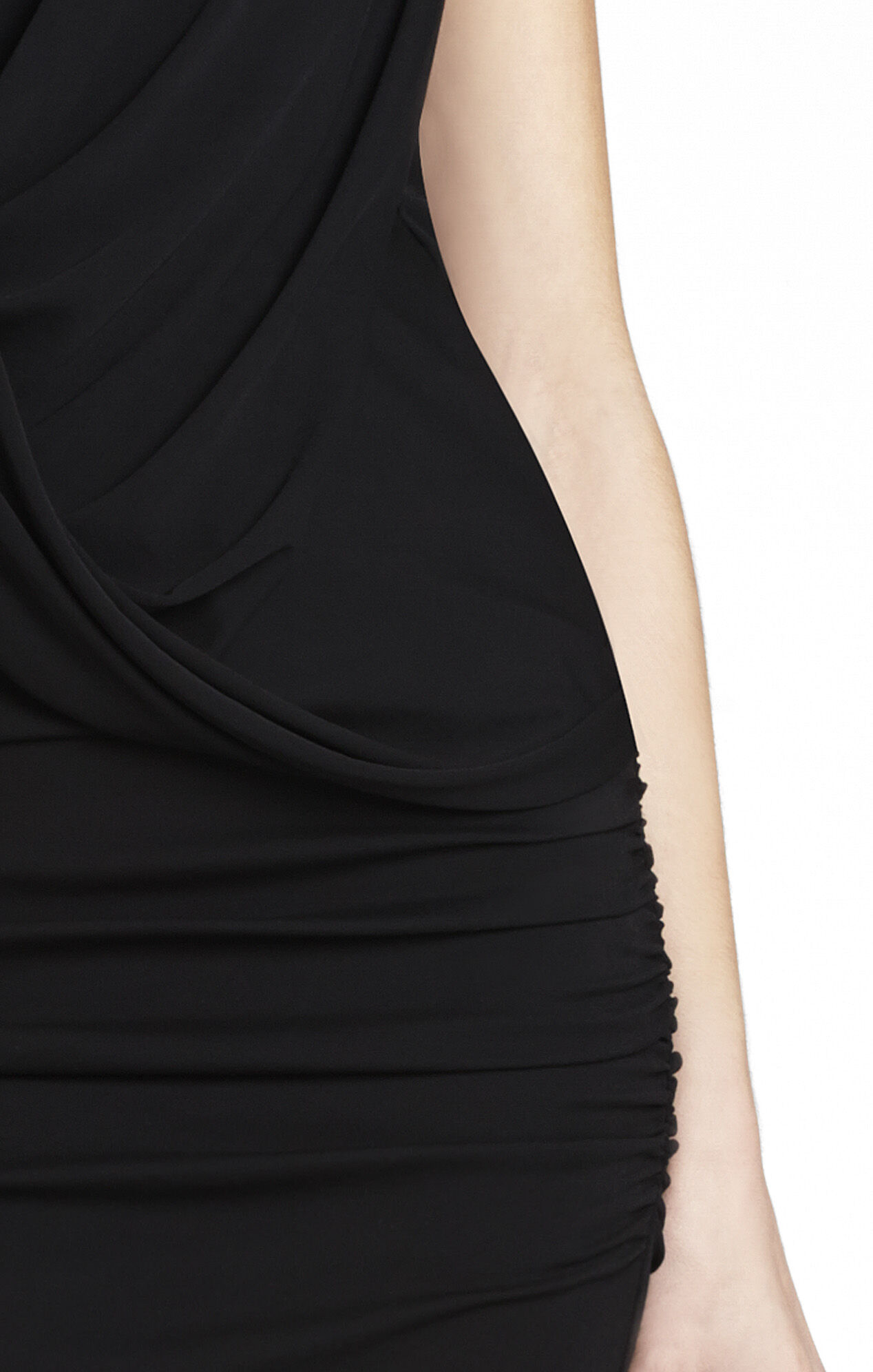 McKenna One-Shoulder Draped Dress