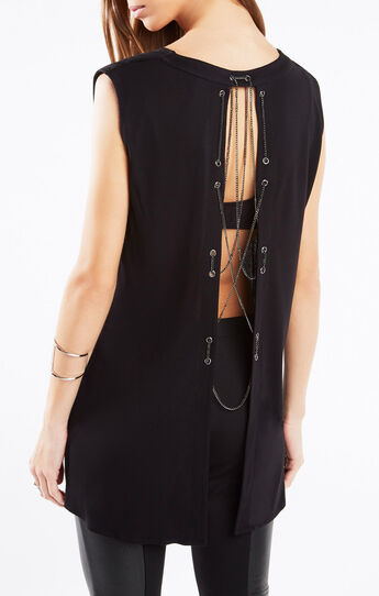 Keeton Chain-Embellished Top