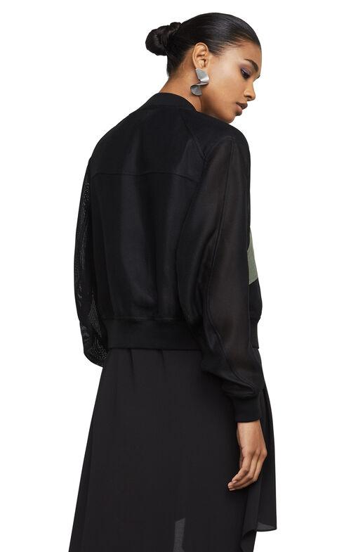 Hugh Mesh Bomber Jacket