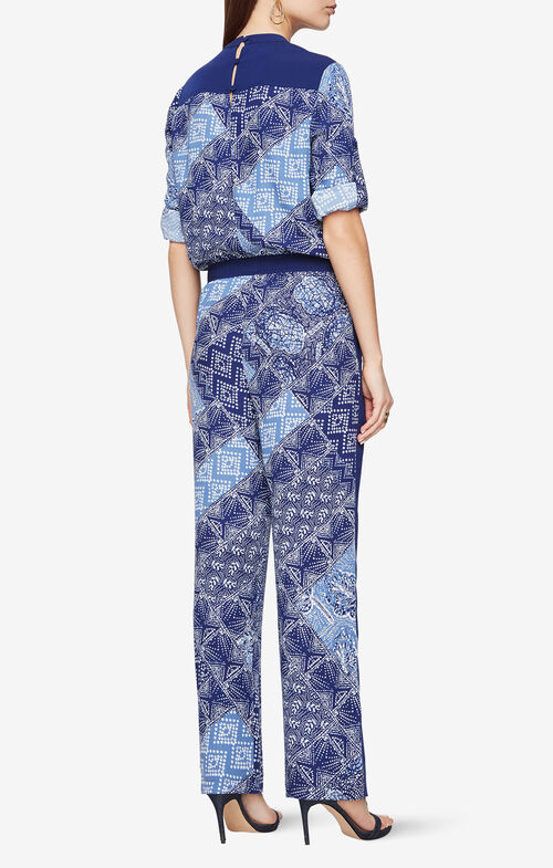 Anton Batik-Print Jumpsuit