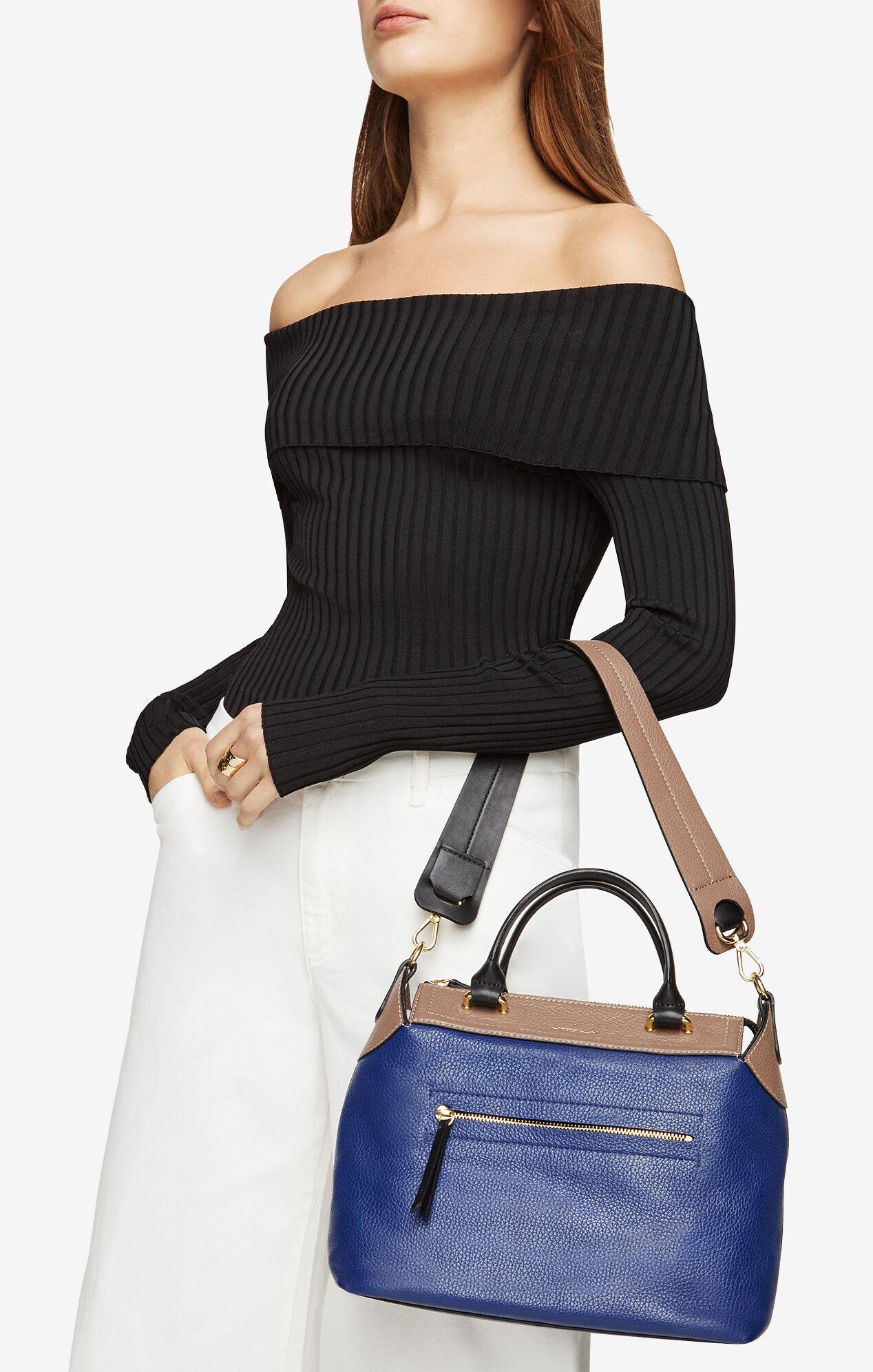 Mariele Color-Blocked Leather Satchel