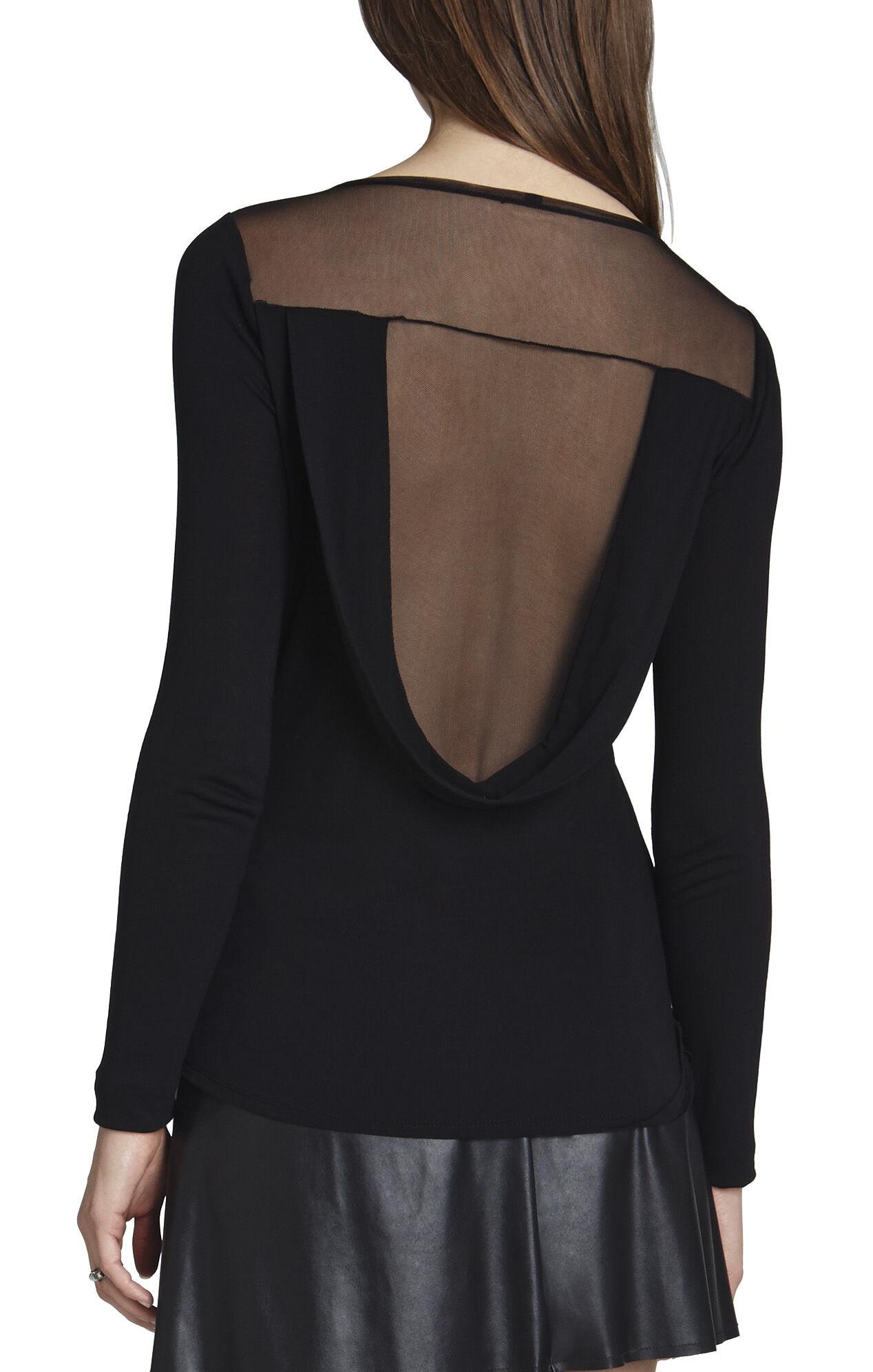 Harden Long-Sleeve Draped-Back Top