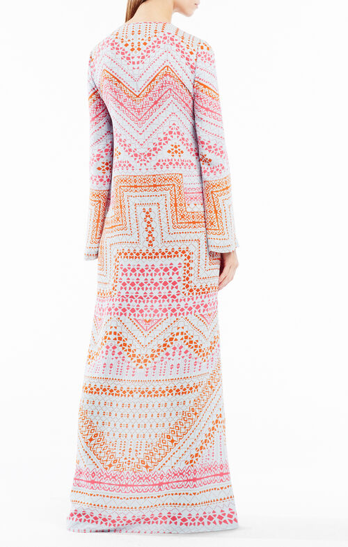 Olivia Geometric Print Kaftan Dress