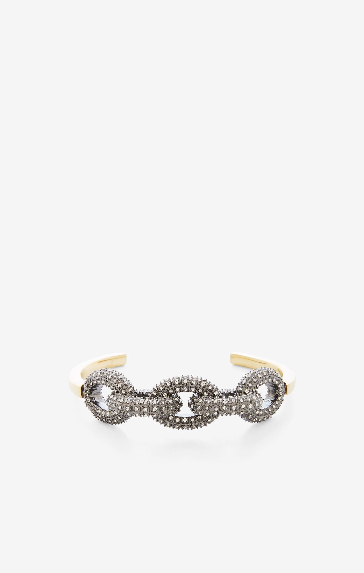 Pave Chain Link Cuff Bracelet