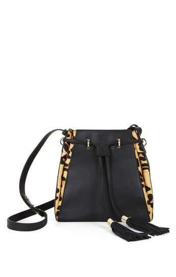 Kinsley Cheetah Print Bucket Bag