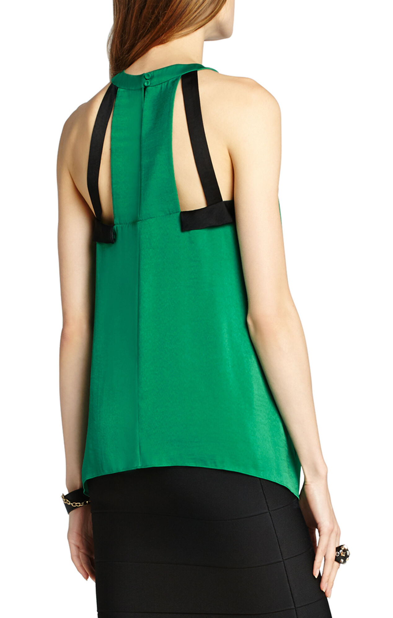 Irene Color-Blocked Halter Top