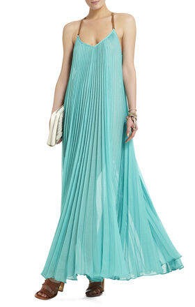Brynna Sleeveless Pleated Maxi Dress