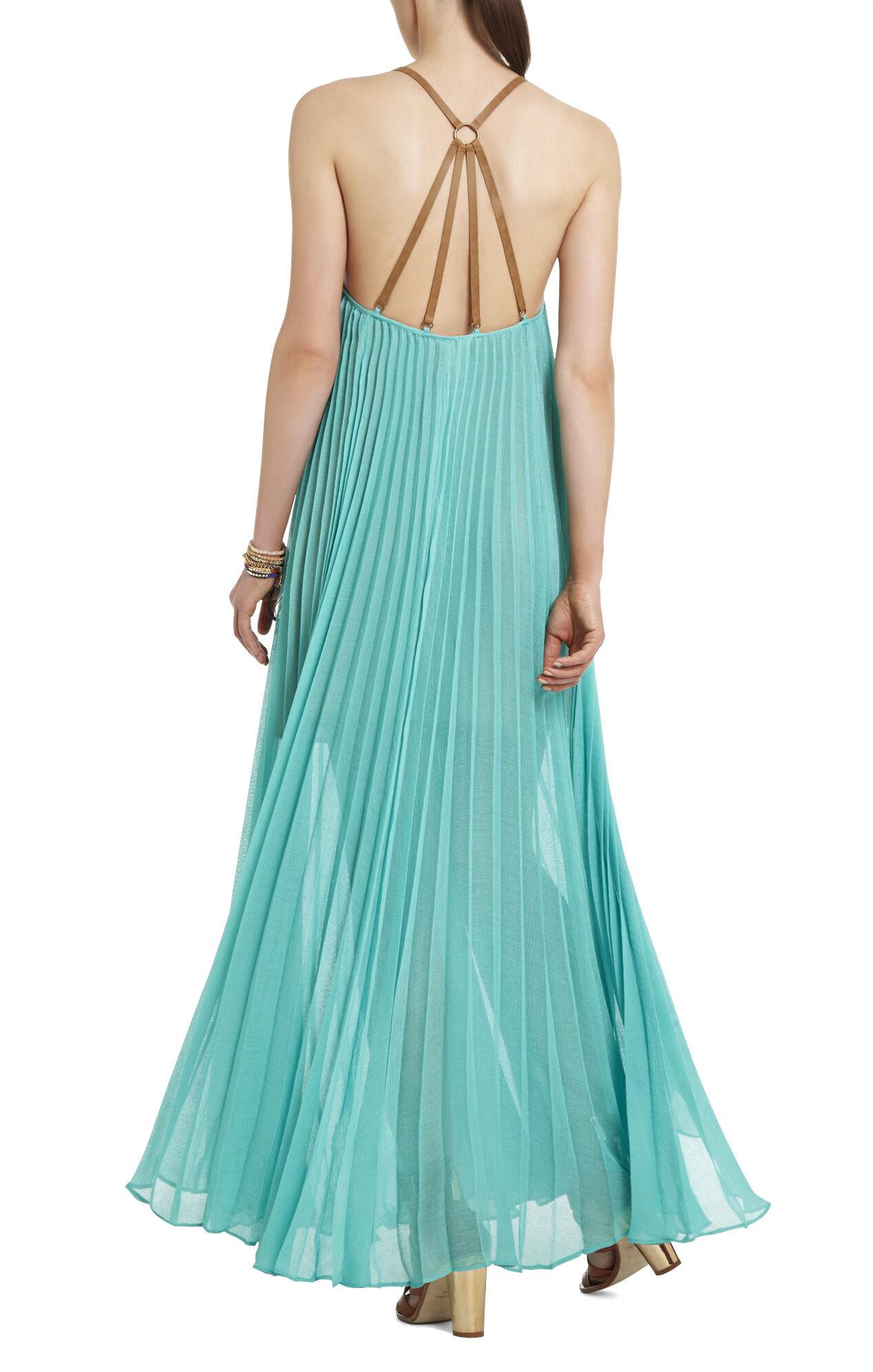 Brynna Sleeveless Pleated Maxi Dress