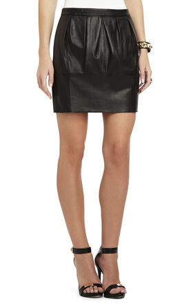 Avara Leather A-Line Skirt