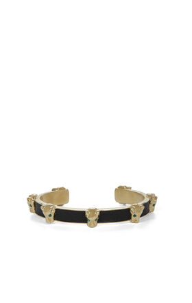 Panther-Inlay Cuff Bracelet