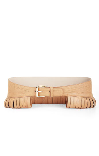 Looped Faux-Leather Contour Waist Belt
