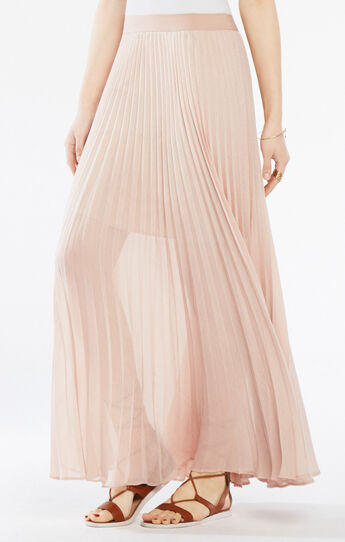 Esten Pleated Lace Maxi Skirt
