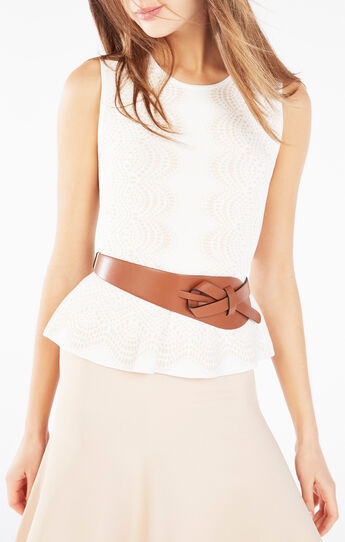 Looped Faux Leather Waist Belt