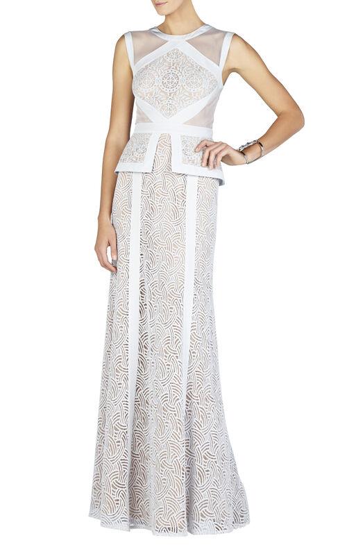 Viviana Sleeveless Peplum Gown