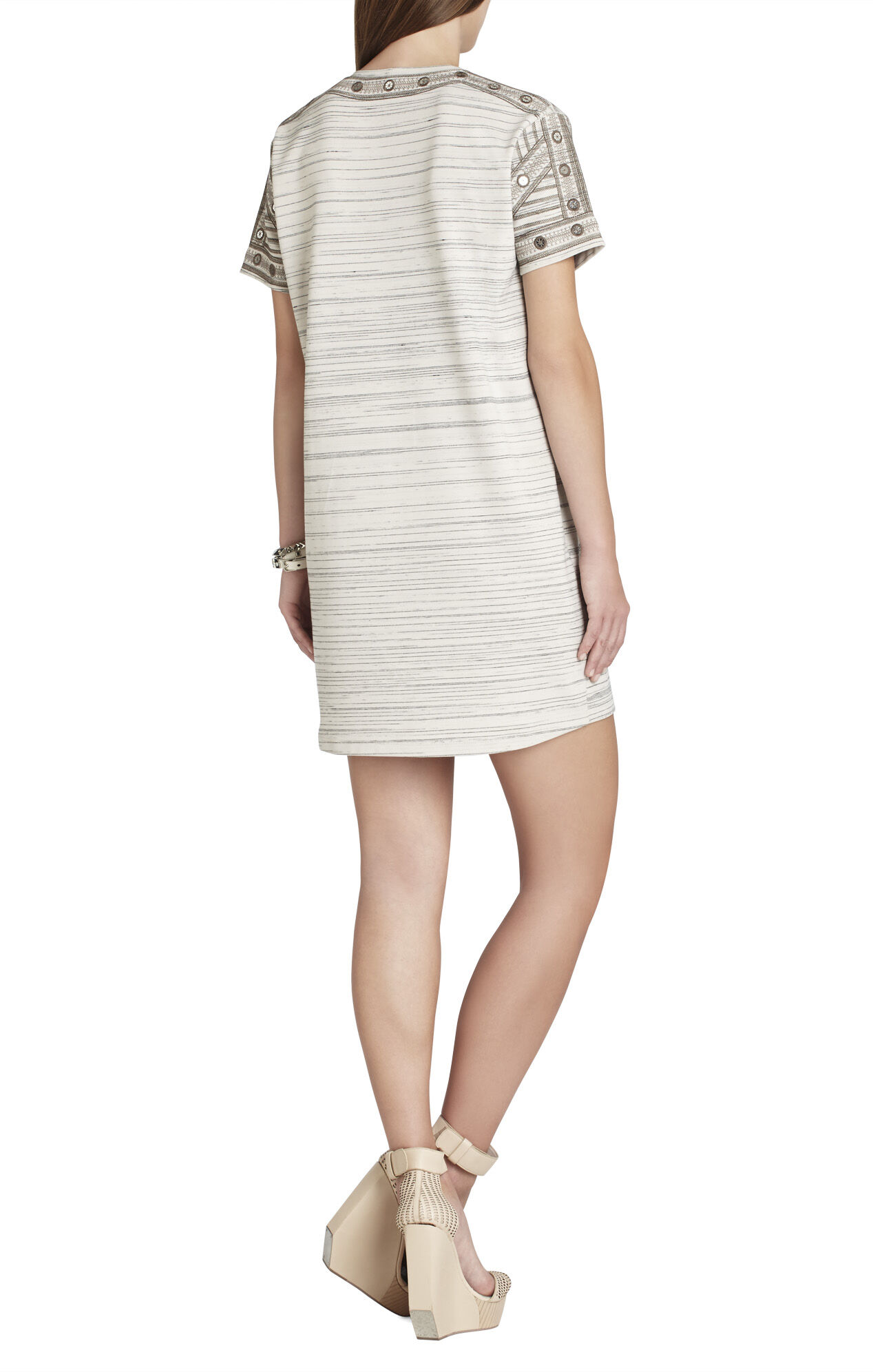 Ada Embroidered Short-Sleeve Dress