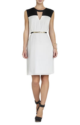 Jimi Color-Blocked Sleeveless Dress