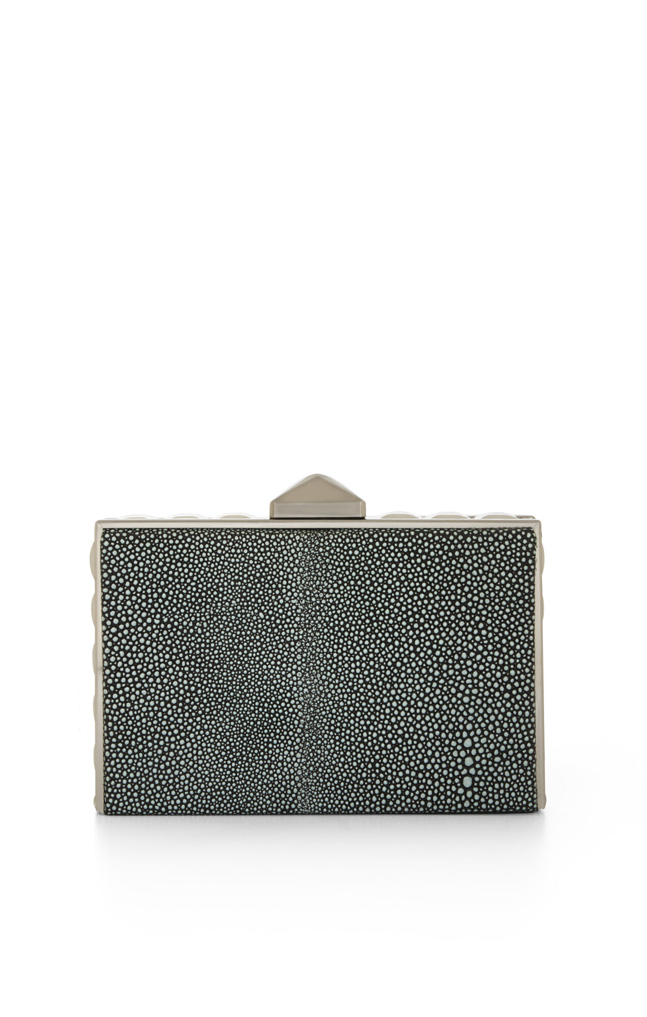 Janis Pyramid Box-Frame Clutch