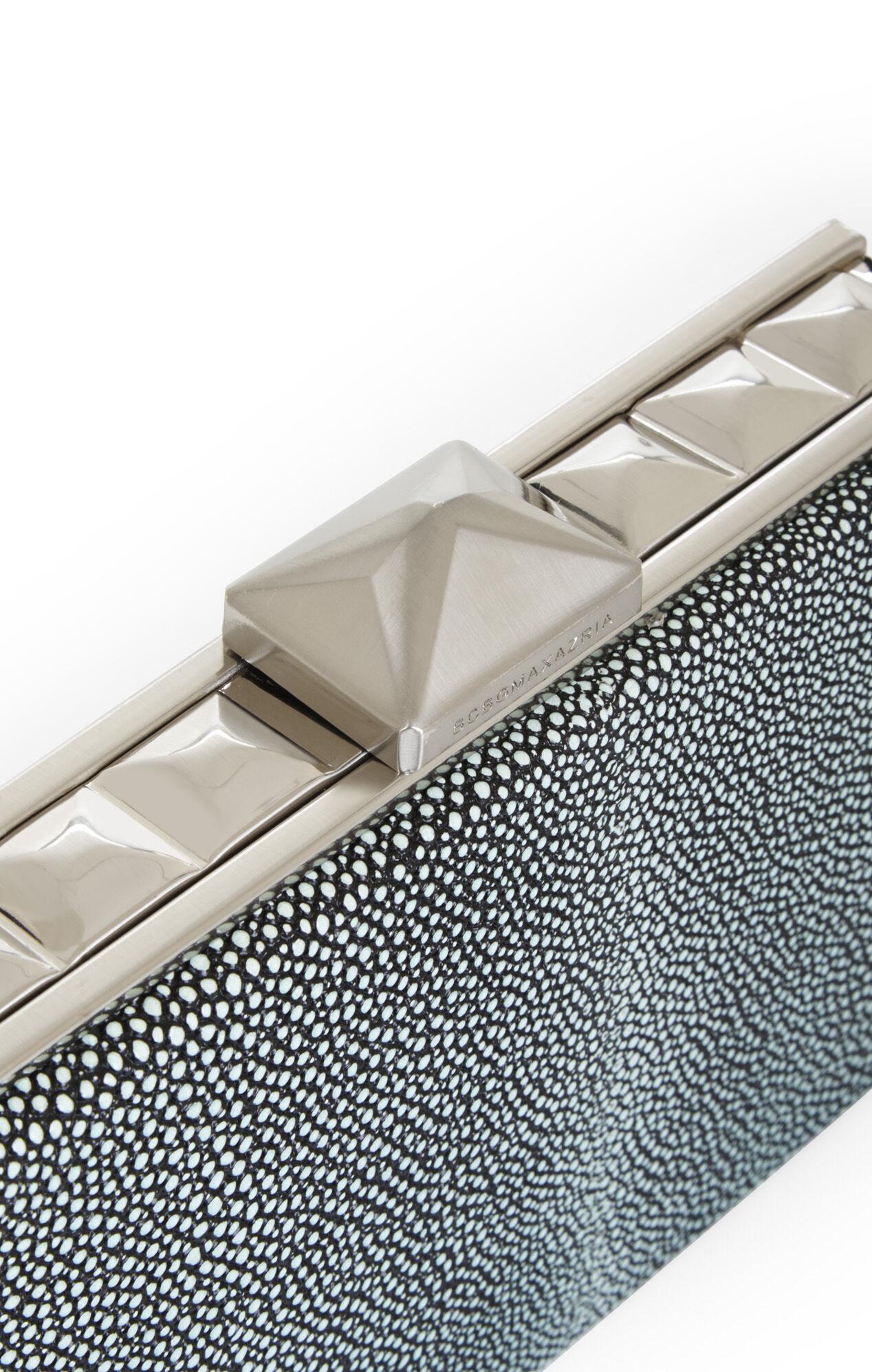 Janis Pyramid Box-Frame Clutch