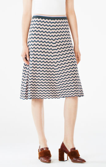 Dasen Pointelle Midi Skirt