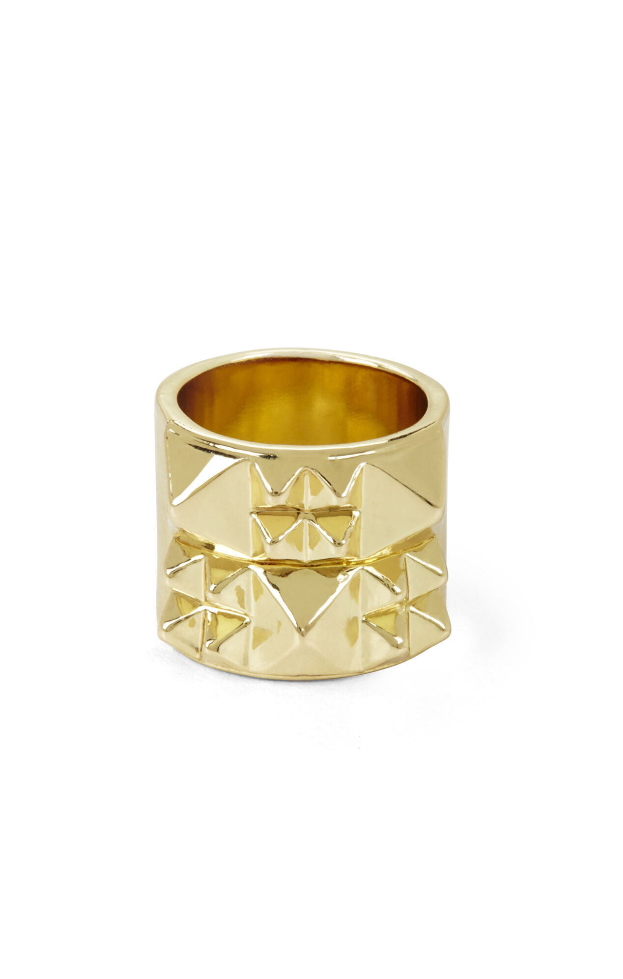 Pyramid-Studded Ring