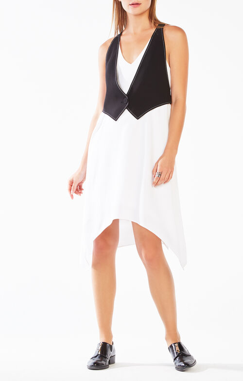 Marciella Color-Blocked Vest Dress