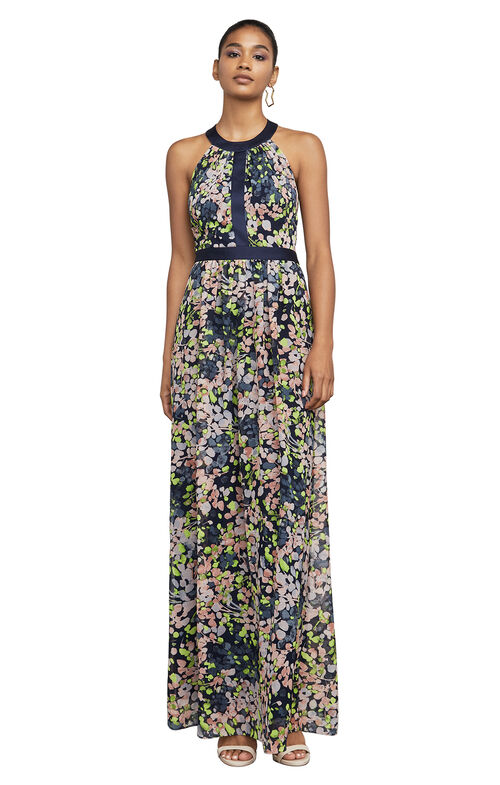Tacarra Floral-Print Gown