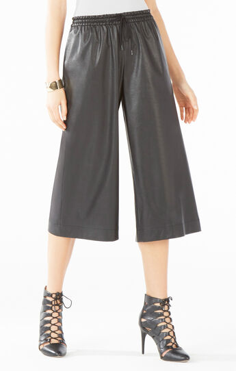 Hendrick Faux-Leather Culotte