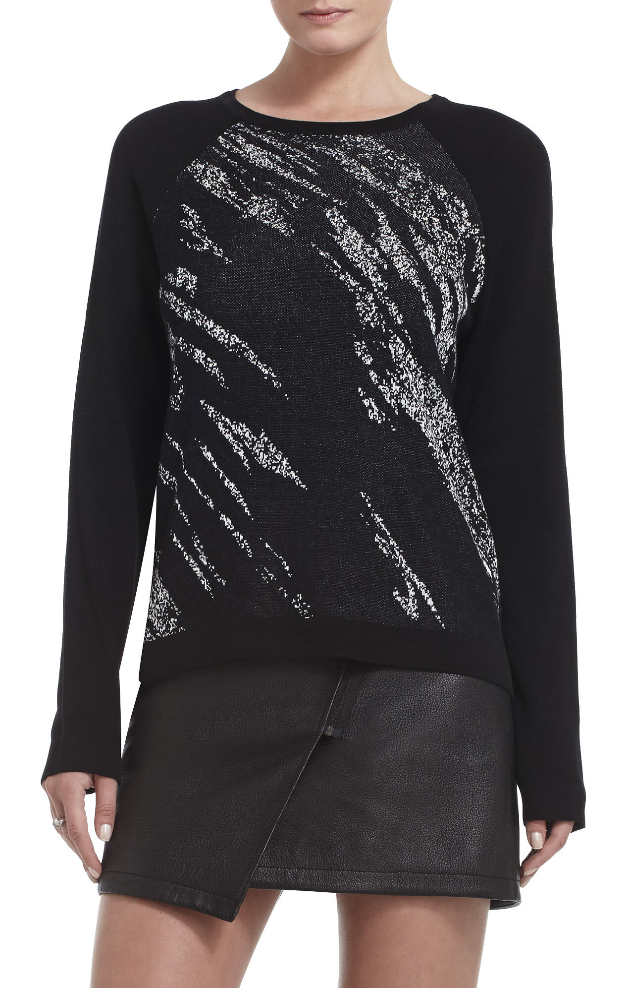 Lex Crackled Jacquard Pullover
