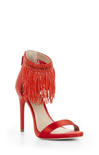 Devine High-Heel Beaded Ankle Dress Sandal