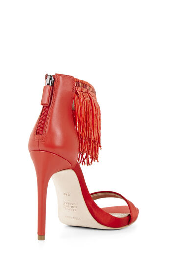 Devine High-Heel Beaded Ankle Dress Sandal