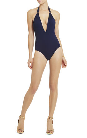 Divine Beauty Deep-Plunge One-Piece