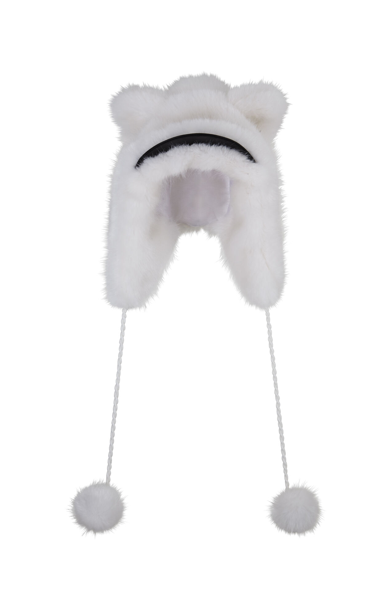 Animal Faux-Leather Brim Trapper Hat