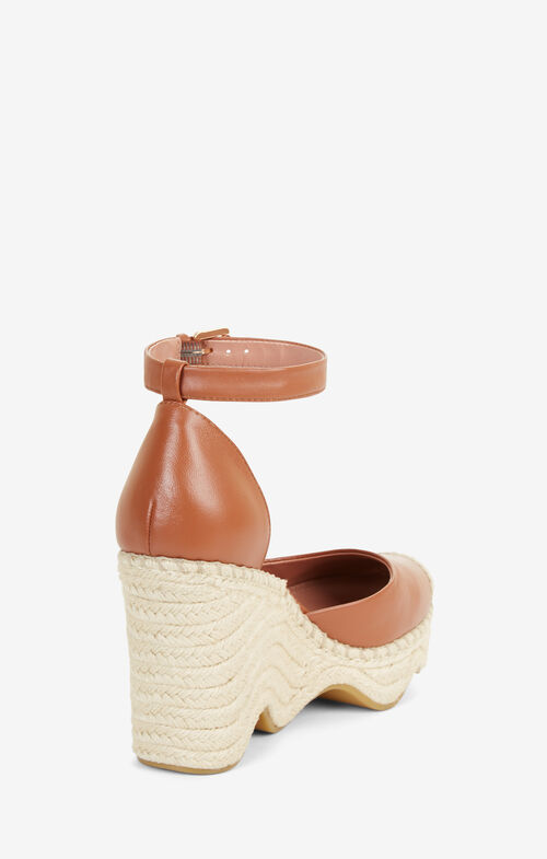 Abell Leather Wedge Espadrilles