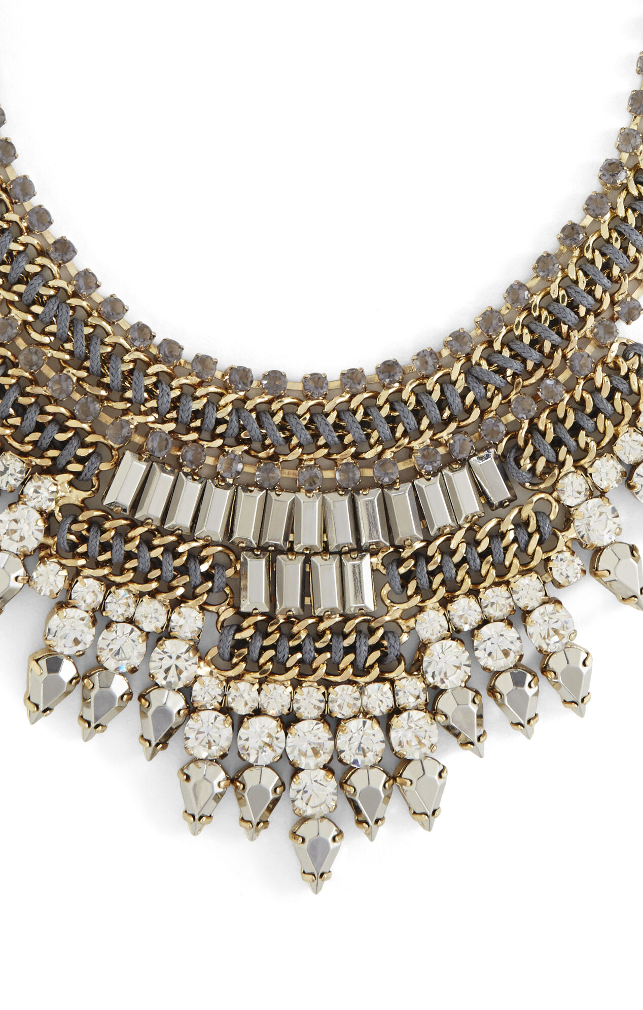 Baguette-Stone Statement Necklace