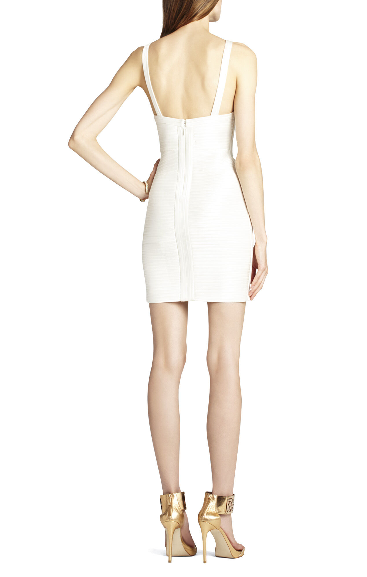Diana Fitted Dress With Strapping