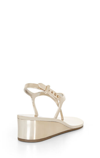 Silvia Mirrored Metallic Sandal