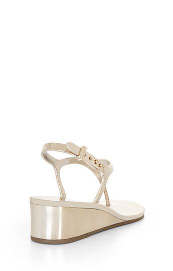 Silvia Mirrored Metallic Sandal