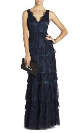 Lilian V-Neck Lace Gown