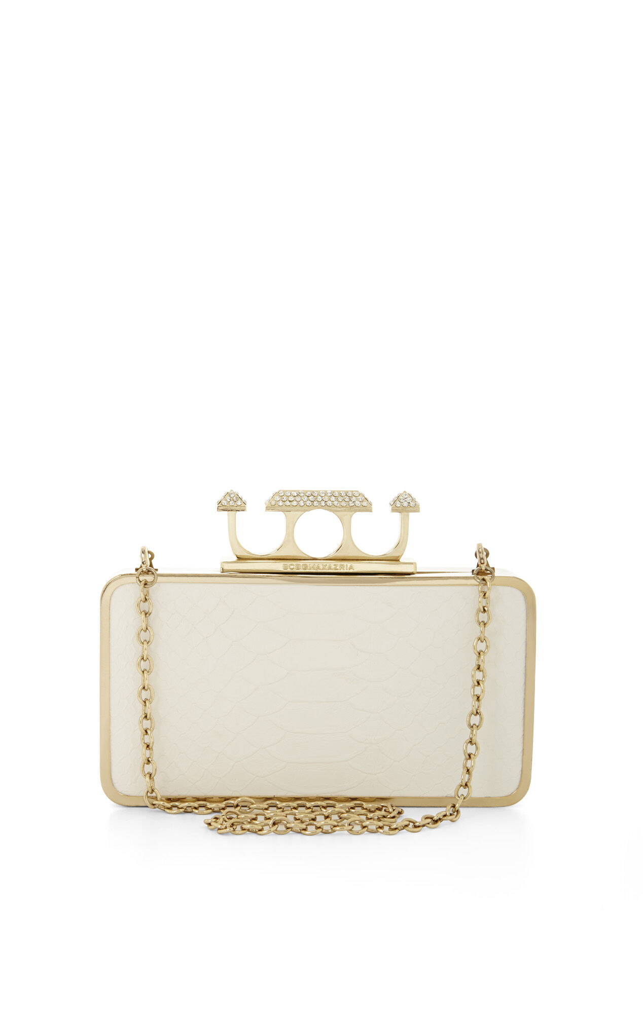 Zoe Pyramid Knuckle Box Clutch