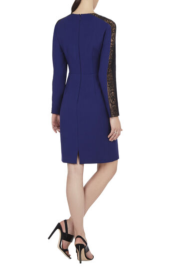 Eloisa Long-Sleeve Embroidered-Trim Dress