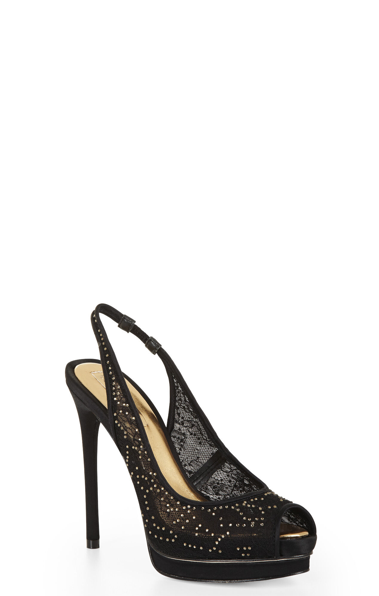 Pippa Peep-Toe Sling-Back Pump