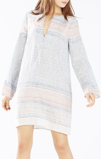 Loriana Border Print Tunic Dress