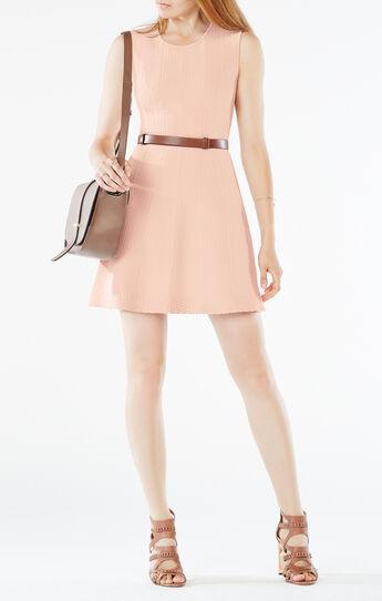 Dyanna Knit Jacquard A-Line Dress