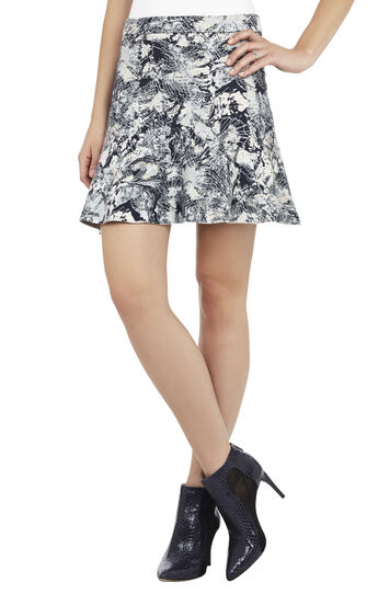 Meya Foliage Jacquard A-Line Skirt