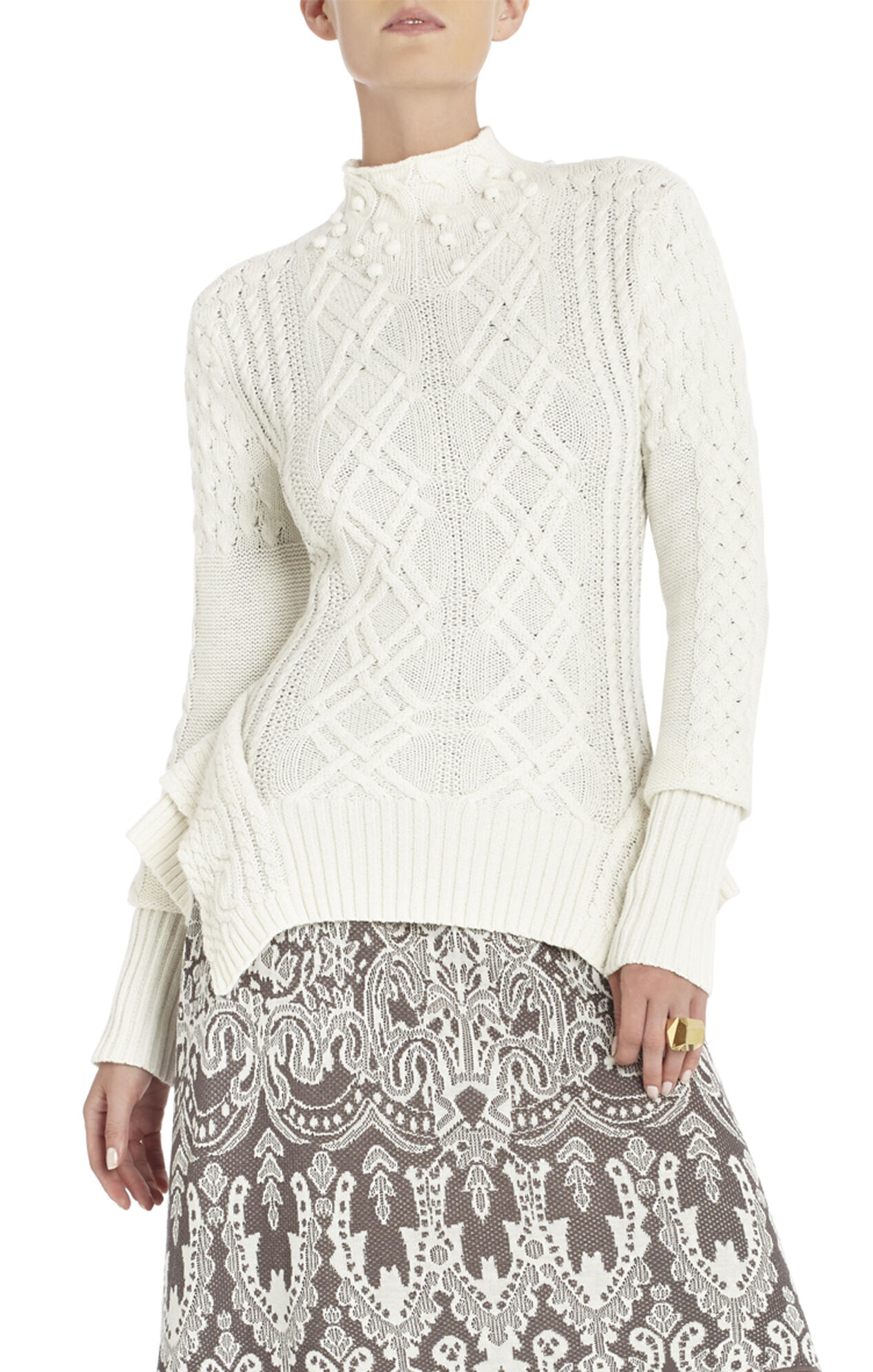 Maylin Cable Turtleneck Sweater