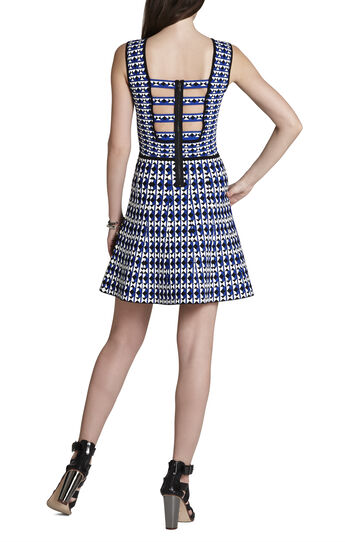 Carolina Geometric-Jacquard Dress